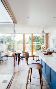 Extension with internal courtyard to a terraced house | Interior, Architectural & Advertising Photographer with a library of house features for publishers Interior Photography, Image Photography, Dyi, Advertising Photographer, Internal Courtyard, Terraced House, Extensions, Dining Chairs, New Homes