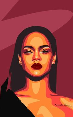Portraits Pop Art, Portrait Art, Vector Portrait, Simple Portrait, Pop Art Drawing, Art Drawings Sketches, Draw Character, Desenho Pop Art, Tableau Pop Art