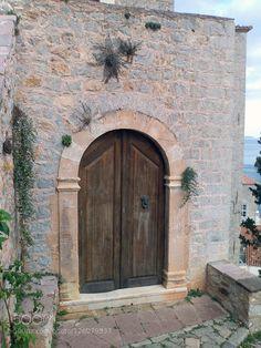 Ydra (Hydra) island Greece by KostasBrillakis Architecture Board, More Wallpaper, Greece, Doors, Island, Boat, Wallpapers, Windows, Greece Country