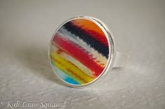 Bold Abstract Ring  Polymer Clay and Resin by kalilainesquared, $20.00