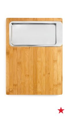 Pizza making essetial: A cutting board with a convenient stainless steel container for storing sliced and diced ingredients