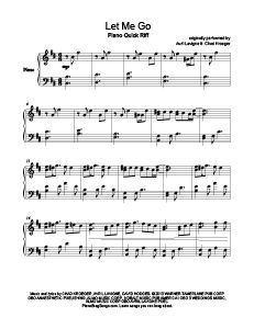 Let Me Go - Avril Lavigne ft. Chad Kroeger. Download free sheet music for over www.PianoBragSongs.com.