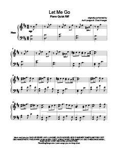 Let Me Go - Avril Lavigne ft. Chad Kroeger. Download free sheet music for over www.PianoBragSongs.com.