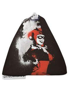 """""""Harley Quinn Stencil"""" Stash Bag by Dynomighty (Multi) #InkedShop #InkedMag #Harley #Quinn #Stash #Bag"""