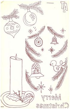 Cute Embroidery Patterns w/ other vintage holiday and border patterns on photo stream