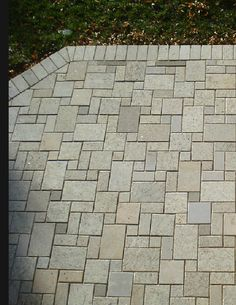 Mini French pattern pavers. Made from 100% recycled solid stone. For more info check out www.EcoGraniteGroup.com