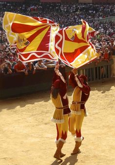 There's a historic parade through each of the contrade (neighborhoods) with a show in front of the duomo. If you like flaggers, you'll enjoy this spectacle. Il Palio di Siena.