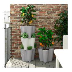 JORDGUBBE Übertopf IKEA Zum Anpflanzen in verschiedenen Höhen können bis zu 3 Töpfe aufeinander gestapelt werden.