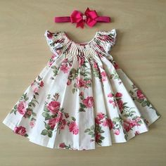Kids dress pattern with pleats on front Order via line : @ Baby Girl Frocks, Frocks For Girls, Dresses Kids Girl, Kids Outfits, Baby Frock Pattern, Frock Patterns, Kids Dress Patterns, Kids Frocks Design, Baby Frocks Designs