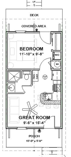 Complete House Plans 390 s F Cute Cottage 1 Bed 1 Ba | eBay