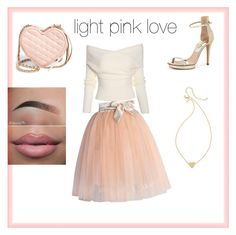 """light pink love"" by mercedes-medina ❤ liked on Polyvore"