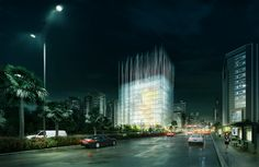 NATIONAL MUSEUM I CHINA I 2016 Exterior - Mias Arquitectes - Museum - Night #architecturalcompetition #renderings #exterior