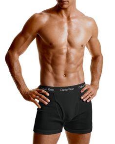 Calvin Klein Men's Underwear, Cotton Stretch Boxer Brief U2158 - Black XL