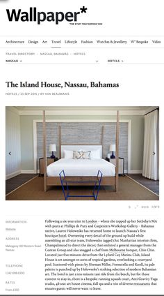 The Island House Nassau featured in Wallpaper.