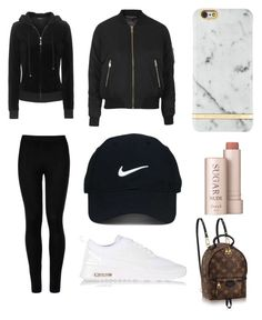 """""""//"""" by beatriceorholm ❤ liked on Polyvore featuring Wolford, Topshop, NIKE, Juicy Couture, Nike Golf, Richmond & Finch, Fresh and Louis Vuitton"""
