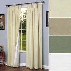 Commonwealth Home Fashions Thermalogic Weathermate Insulated Solid Pinch Pleat Curtain Pair-Natural, 48 x 95 Wide Curtains, Drapes And Blinds, Pinch Pleat Curtains, Pleated Curtains, Blackout Curtains, Diy Blinds, Window Drapes, Insulated Curtains, Thermal Curtains