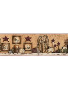 DecoratorsBest - Detail1 - YO CN1136BD - FAITH HOPE LOVE SHELF BORDER - CN1136BD - Wallpaper - DecoratorsBest