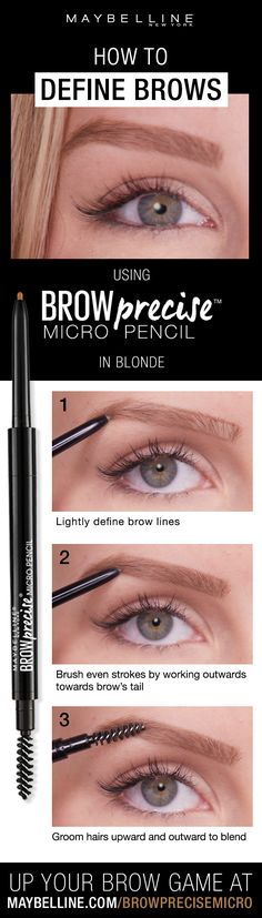 Create the look of natural looking brows with the Brow Precise Micro Pencil. Its micro fine tip allows for fine, hairlike strokes for the most natural look! Brows are shaped and filled with impeccable precision.