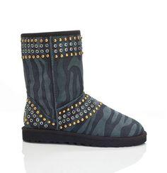 Ugg Jimmy Choo Kaia Charcoal Zebra Boots