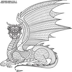 """The dragon from """"Awesome Animals 5"""""""