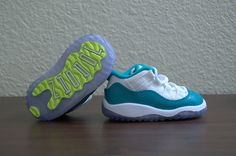 Image of AIR JORDAN 11 RETRO LOW - 'TURBO GREEN'