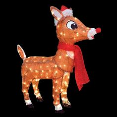 Greet your family and friends this holiday season by choosing this Rudolph LED Pre Lit Yard Art with Santa Hat. Christmas Light Show, Christmas Lights, Christmas Ornaments, Rudolph Christmas, Christmas Yard Decorations, Santa Hat, Christmas Inspiration, Yard Art, Beautiful Christmas