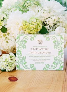 invitation designed by the lettered olive, photographed by katie stoops at tuckahoe plantation for southern weddings magazine