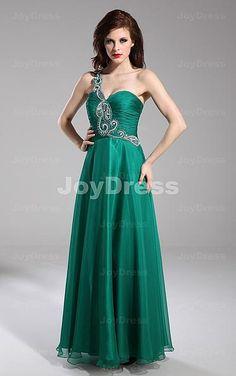 Grün Bodenlangen Chiffon Kleid - Joydress.de - 221 - pro - p120829008