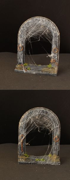 Dungeon Door with Spiderwebs Haunted Dollhouse, Game Terrain, Wargaming Terrain, D&d Dungeons And Dragons, Halloween Doll, D Craft, Fitness Gifts, Miniature Crafts, Tabletop Games