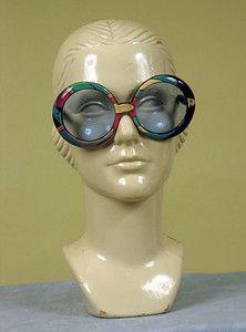 Pucci Print Bug-Eye Sunglasses, late 1960s.