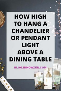 If you have dining room light fixtures ready to hang, make sure they hang at the right height. Hanging a chandelier or pendant light over your dining table doesn't have to be hard. Click to learn the simple rule to get your pendant light height right!