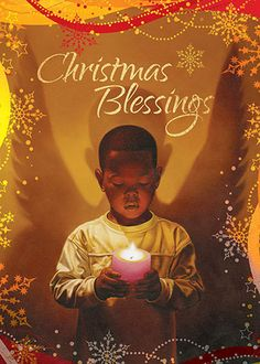 Christmas Blessings: African American Christmas Card (Box Set of 15)   The Black Art Depot