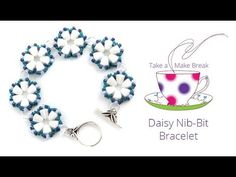 Daisy Nib-Bit Bracelet | Take a Make Break with Beads Direct - YouTube