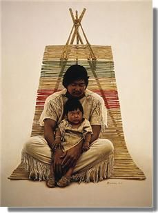 Southwest Indian Father And Son