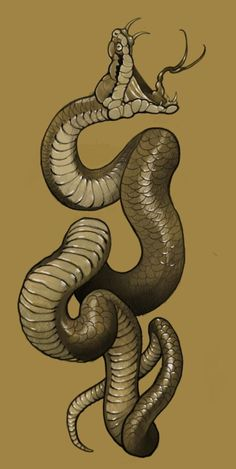 the snake - Neotraditional Designs - Tattoo Sketches, Tattoo Drawings, Body Art Tattoos, Snake Drawing, Snake Art, Kobra Tattoo, Japanese Snake Tattoo, Japanese Tattoos, Totenkopf Tattoos