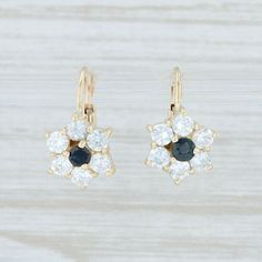14K YellowGold 1.06ct Genuine Opal /& Blue Topaz Drop Earrings 925 SterlingSilver