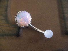 light fire opal navel barbell