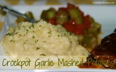 crockpot garlic mashed potatoes...
