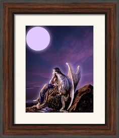 A Question From An Angel Framed Print By Maria Ines Quevedo
