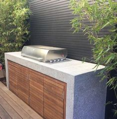 Barbecue installed ready to be enjoyed Elwood project - Garten küche, outdoor kitchen, backyard BBQ - Kitchen Outdoor Bbq Kitchen, Backyard Kitchen, Outdoor Kitchen Design, Backyard Patio, Outdoor Kitchens, Parrilla Interior, Backyard Barbeque, Bbq Grill, Outdoor Barbeque Area