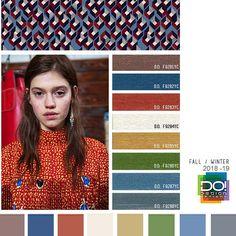 #DesignOptions FW18/19 color report on #WeConnectFashion, Contemporary Women's Mood details: Female Warrior, detail.