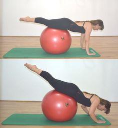 Exercícios para fazer em casa com a bola de Pilates - para abdômen, glúteos e coluna
