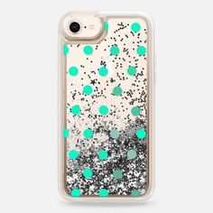 minty dots - Snap Case Glitter Phone Cases, Lovers Art, Tech Accessories, Casetify, Designers, Dots, Artists, Artwork, Stitches
