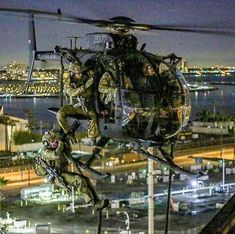 "Night Stalker at the Port of Long Beach during ""training exercise"" last year Military Helicopter, Military Aircraft, Helicopter Plane, Military Special Forces, Military Pictures, Strange Photos, Special Ops, Military Art, Military Diorama"