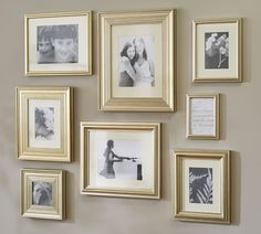 Eliza Gilt Single Opening Frames - Champagne