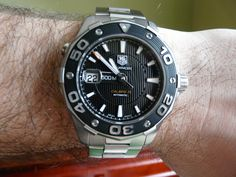 Tag Heuer Aquaracer 500m calibre 5 diving watch-blue