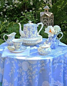Tea In The Garden On A Blue Day.......