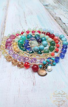Crocheted  Boho Chic Necklace #VintageRoseGallery , #etsy , Multi Coloured 5 Strand Bracelet and Necklace,  Colourful  Statement  Necklace by VintageRoseGallery