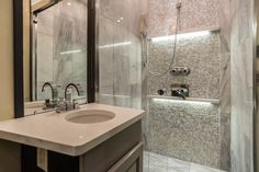 Master bathroom in a bus. et your bus conversions done at Fox Trailer Servive