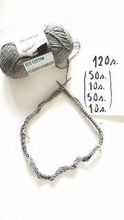 Elengiina: Ylhäältä alas neulottu paita + Helppo ohje Maybelline, Knitted Hats, Diy And Crafts, Knit Crochet, Knitting, Silver, How To Make, Cotton, Handmade